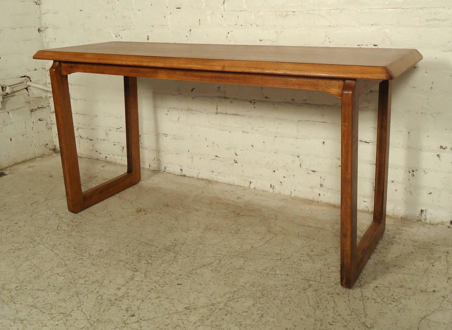 vintage lane sofa table futon leather bed modern walnut console by for sale at