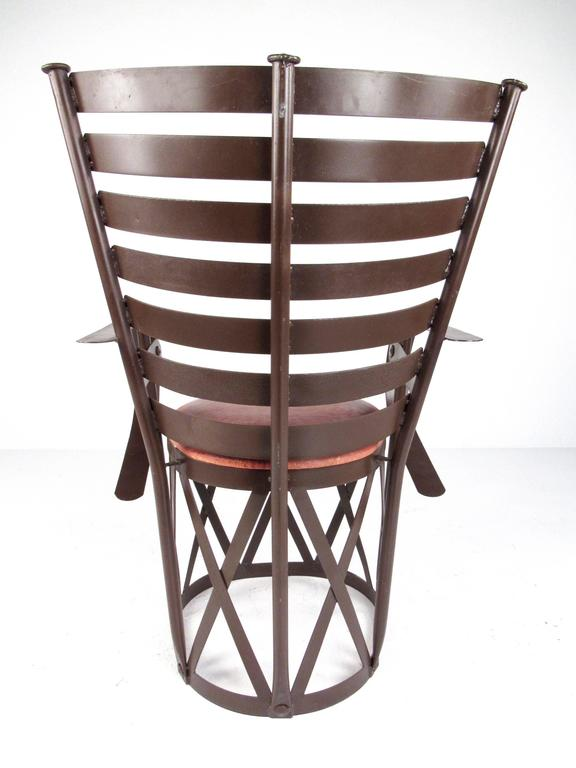 Contemporary Modern Sculptural Metal Armchair Throne For