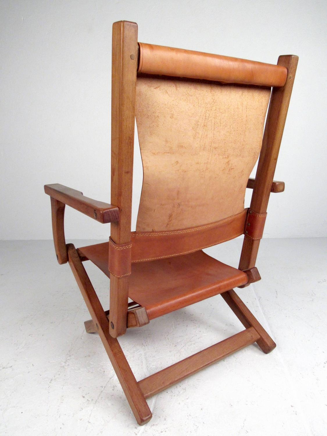 Modern Folding Chairs Contemporary Modern Folding Leather Armchair For Sale At