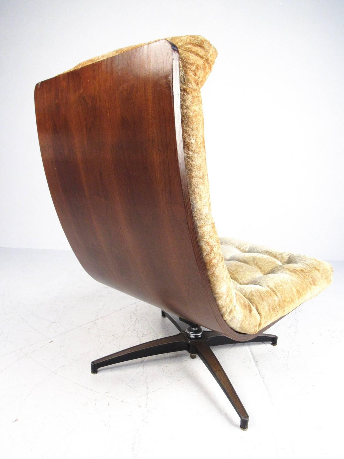 swivel chair dimensions new dental chairs mid-century modern shell back lounge for sale at 1stdibs