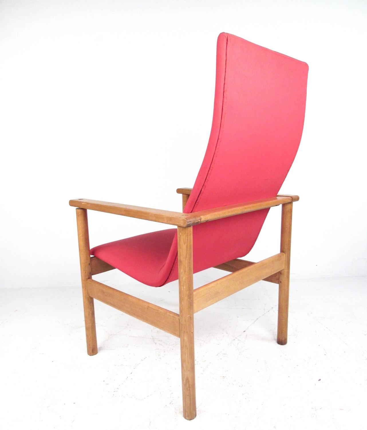 high back contemporary chairs camping chair mid century modern lounge for sale at 1stdibs