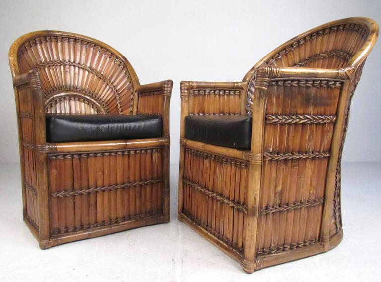 bamboo chairs for sale surefit chair covers perfect antique fm19 advancedmassagebysara finest pair of vintage side by budji layug at 1stdibs yg92