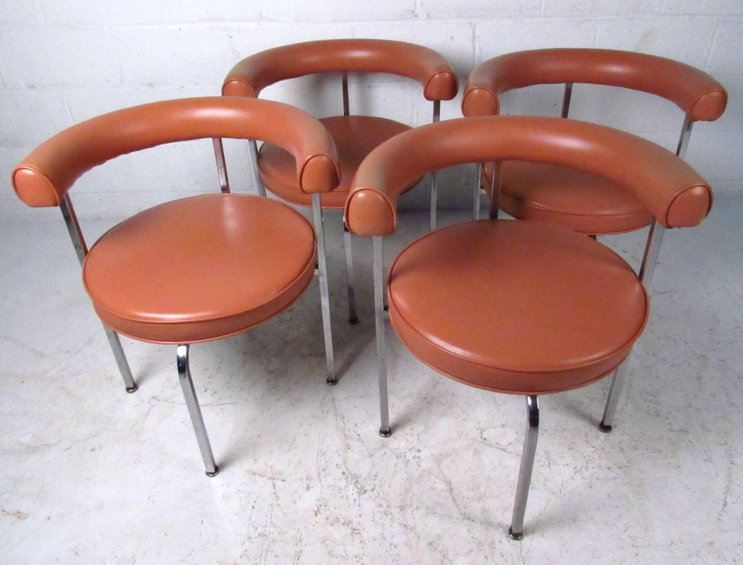 mid century barrel dining chair fishing robo modern cassina style back side chairs