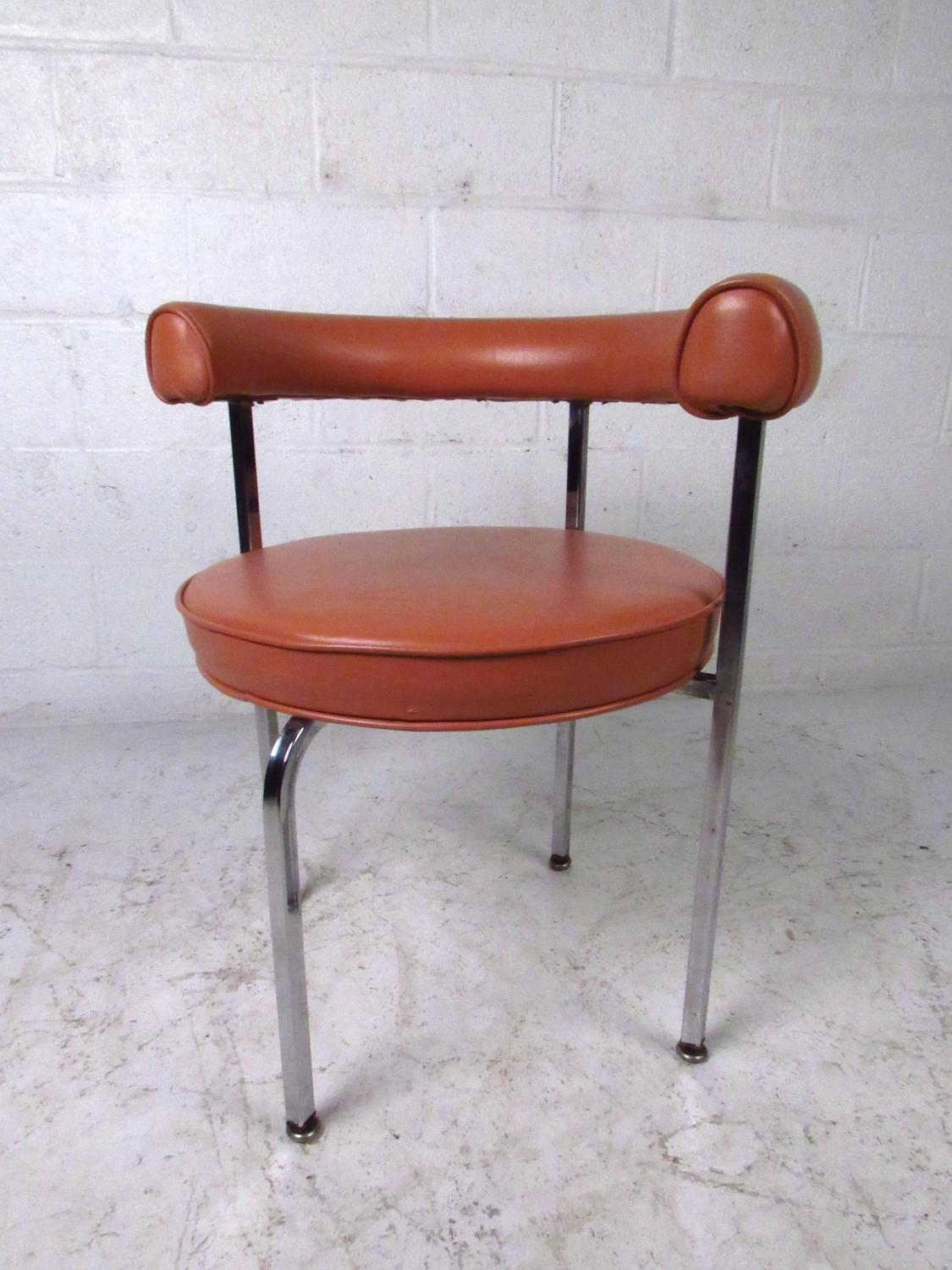mid century barrel dining chair best floor modern cassina style back side chairs