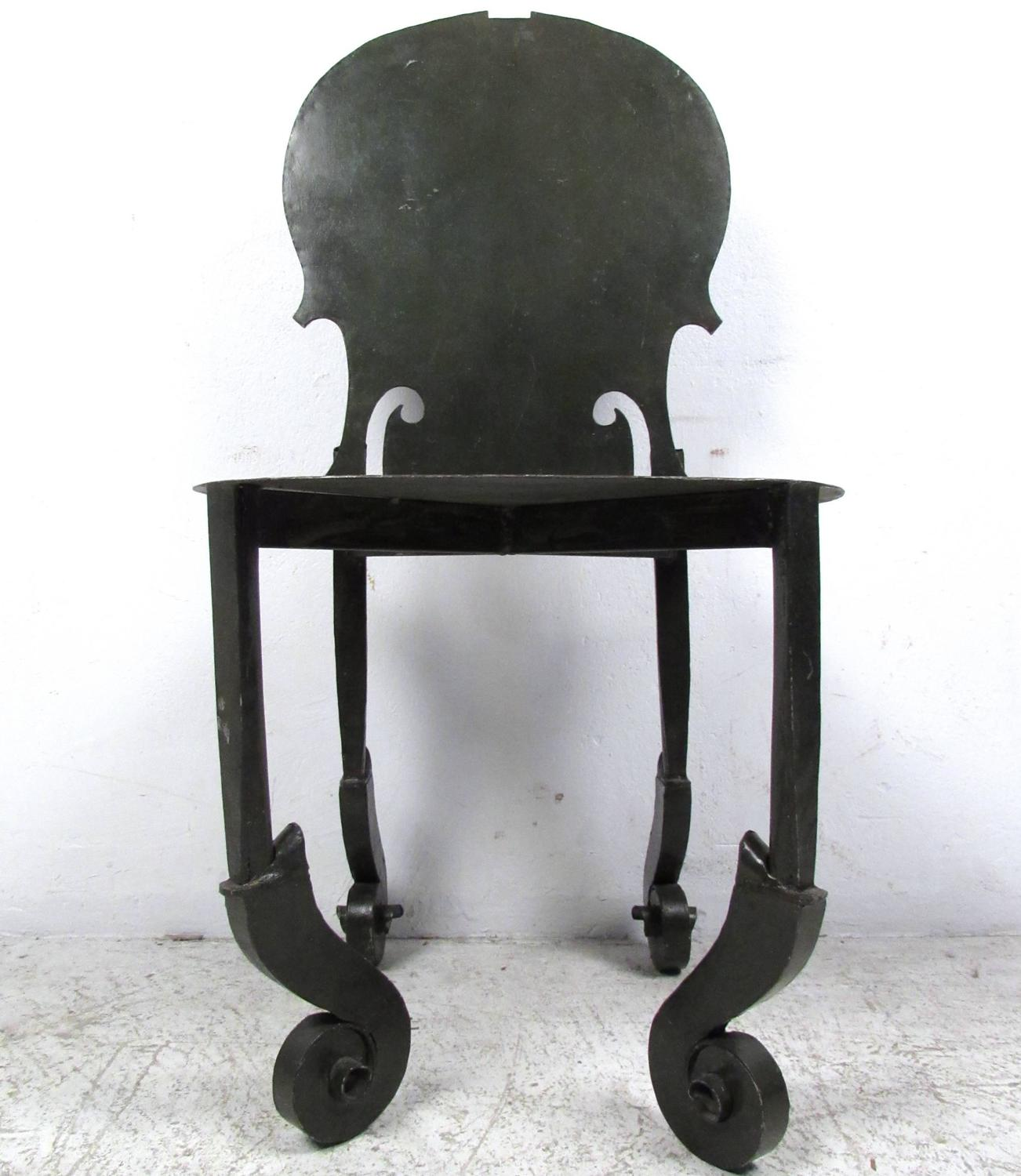 antique metal chairs for sale folding chair covers wedding vintage violin in the style of arman