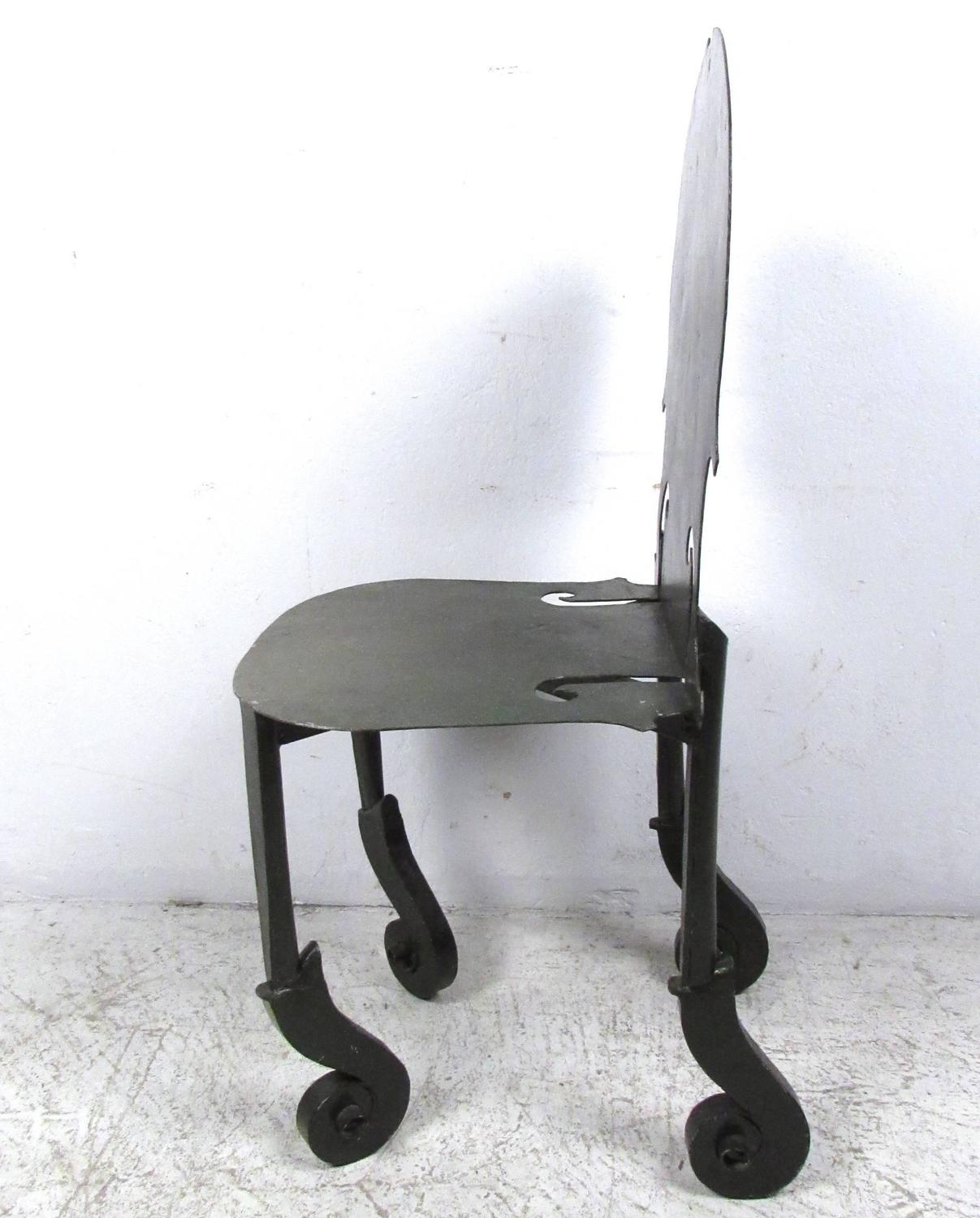 antique metal chairs for sale white samsonite vintage violin chair in the style of arman