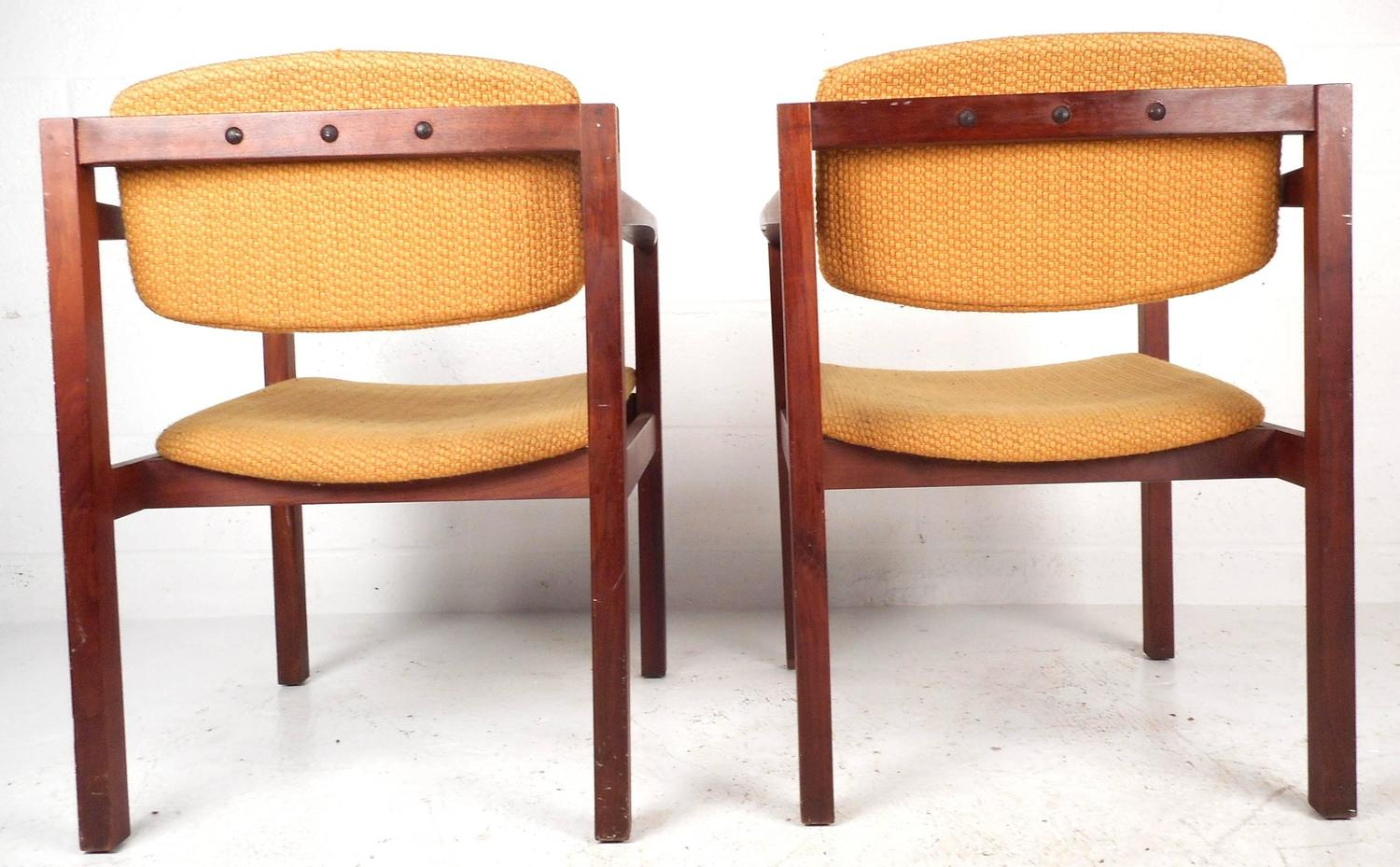 teak dining room chairs for sale inflatable outdoor sofa chair pair of mid century modern arm