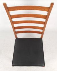 Set of Mid-Century Modern Ladder Back Dining Chairs For ...
