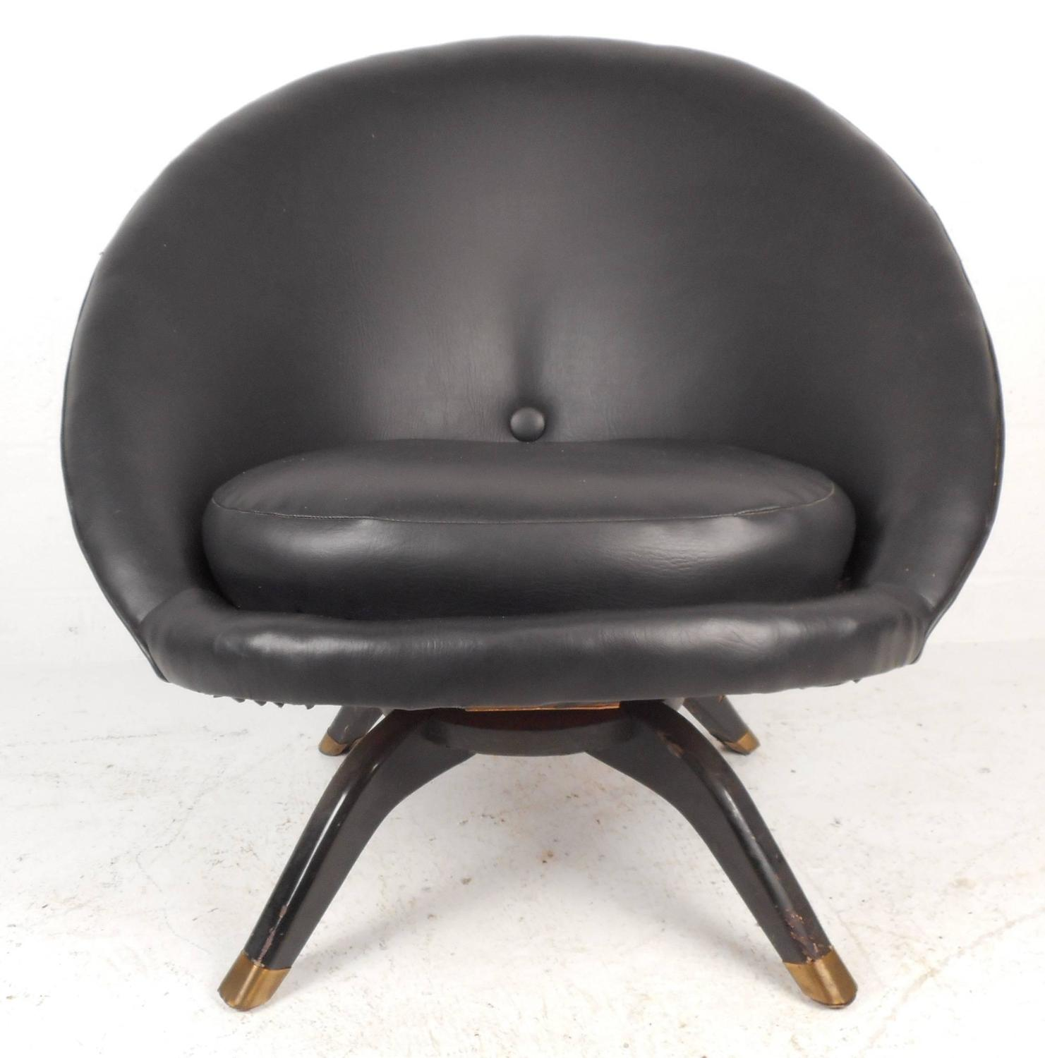 swivel pod chair canvas material for chairs mid century modern overman style sale