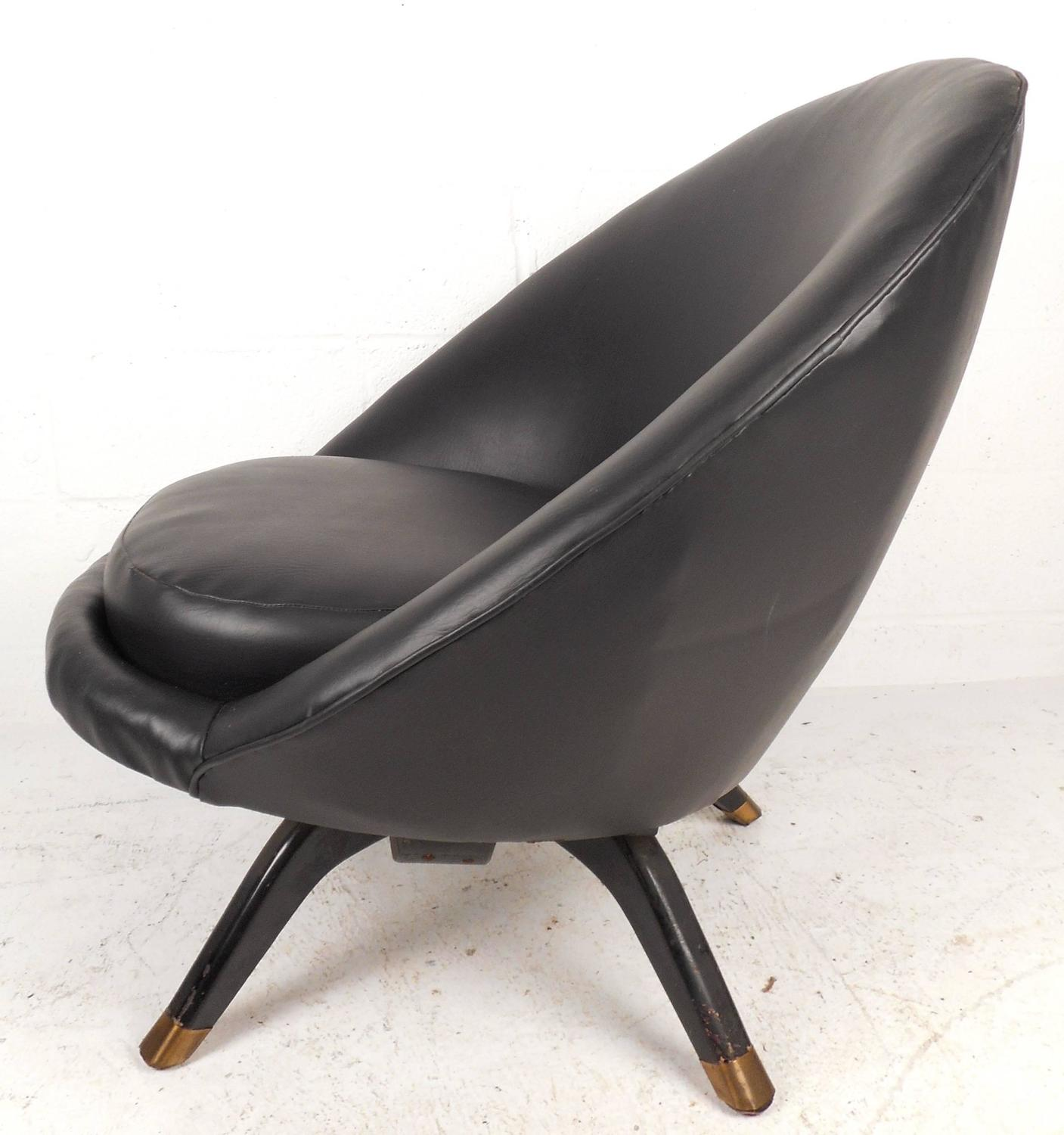 Pod Chairs Mid Century Modern Overman Style Swivel Pod Chair For Sale