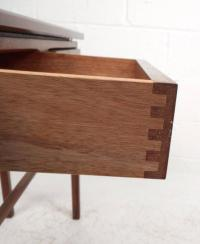 Mid-Century Modern Small Two-Door Rosewood Console Table ...