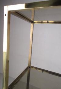 Mid-Century Brass and Tinted Glass tagre For Sale at 1stdibs