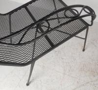 Mid-Century Modern Style Wrought Iron Patio Chairs at 1stdibs