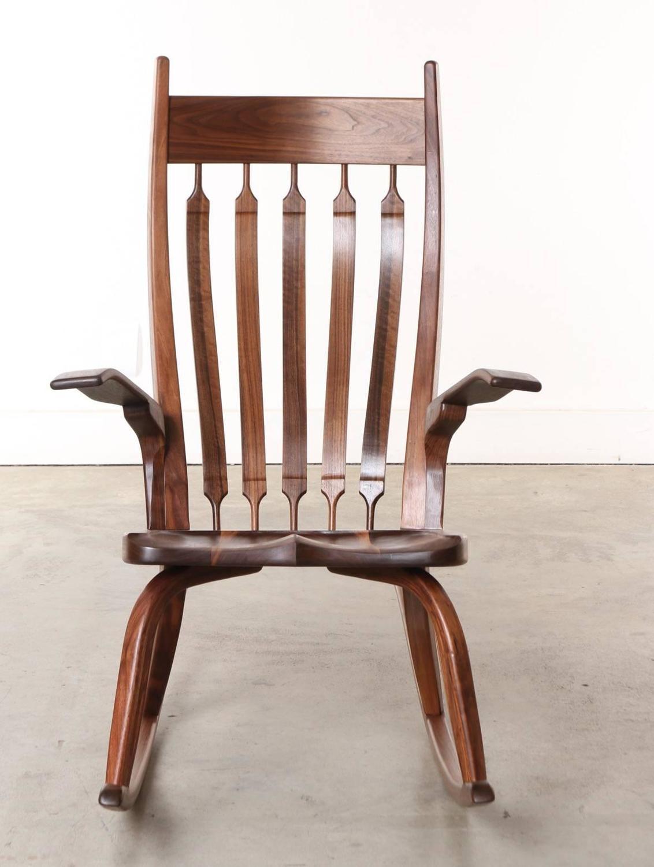rocking chairs for sale bird chair knoll california craftsman wooden dark walnut