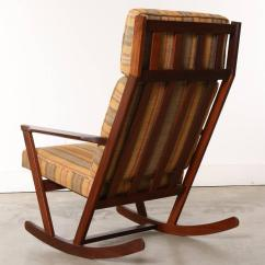 Wooden Rocking Chair Cushion Set Kenny Chesney Blue Rum Danish Modern With Cushions Designed