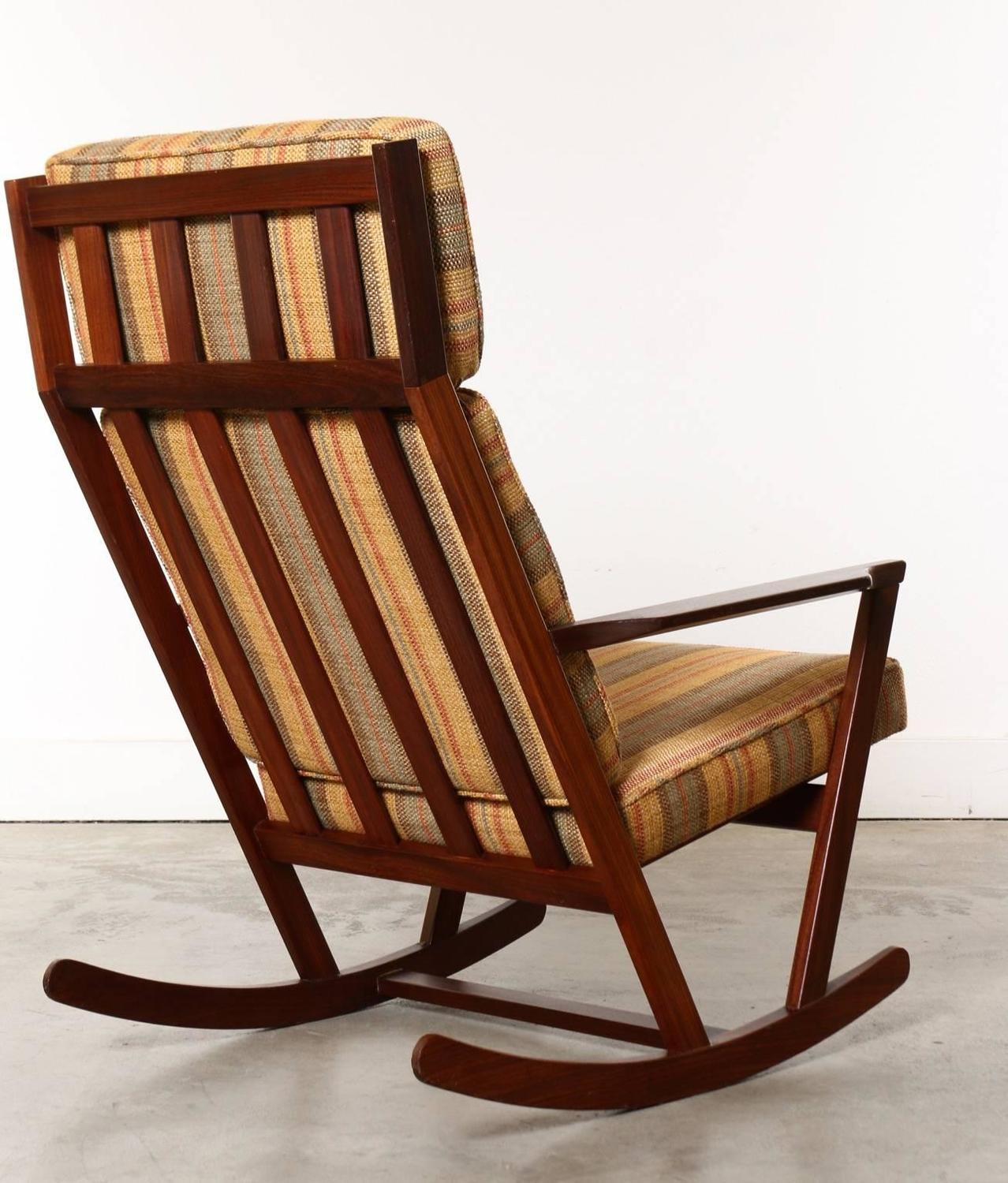 wooden rocking chair cushion set prospera massage danish modern with cushions designed
