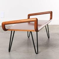 Midcentury Table or Bench with Hairpin Legs at 1stdibs