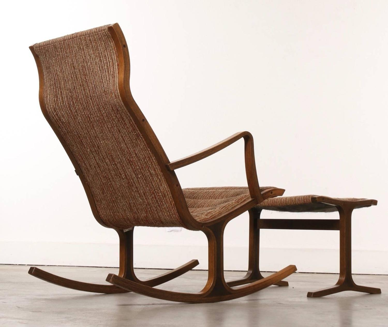 rocking chair footrest loose dining covers nz heron and footstool by mitsumasa sugasawa