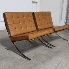 Barcelona Chairs For Sale Desk Chair Tufted Pair Of Quotbarcelona Quot By Ludwig Mies Van Der Rohe