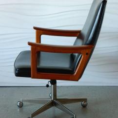 Mid Century Modern Desk Chair Santa Covers Dollar Tree Danish Teak In The Style Of