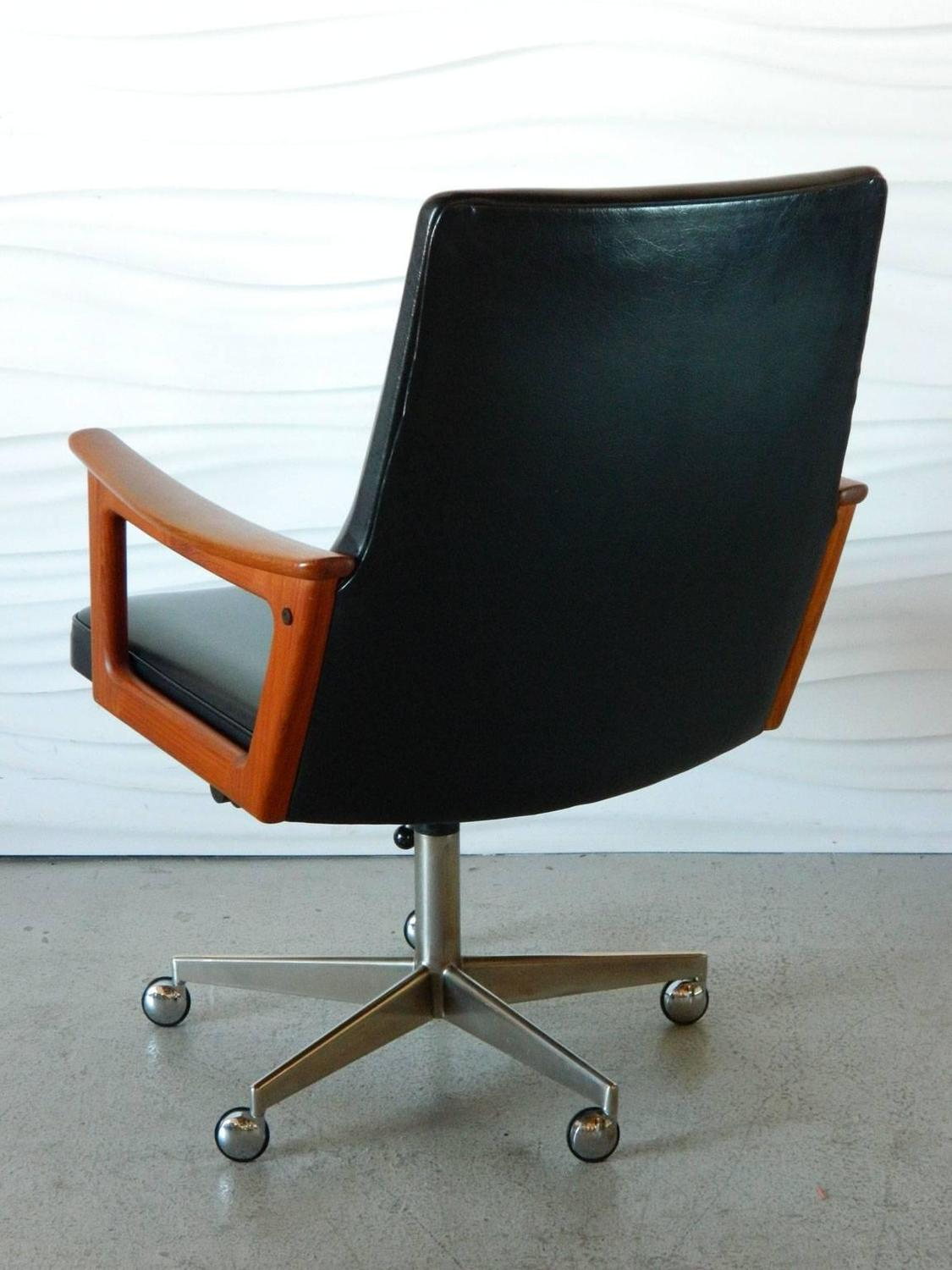 Mid Century Modern Office Chair Mid Century Modern Danish Teak Desk Chair In The Style Of