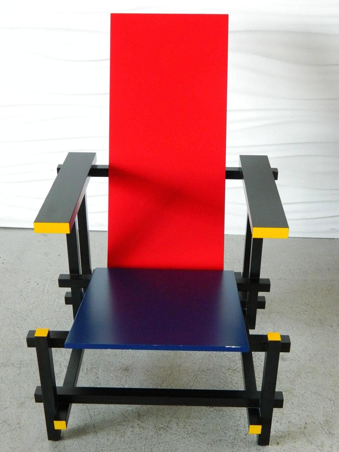 red blue chair hot pink folding covers and by gerrit thomas rietveld for sale at