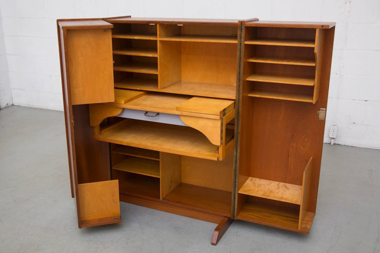 folding desk chair step stool with slide out steps mummenthaler and meier quotmagic box quot cabinet