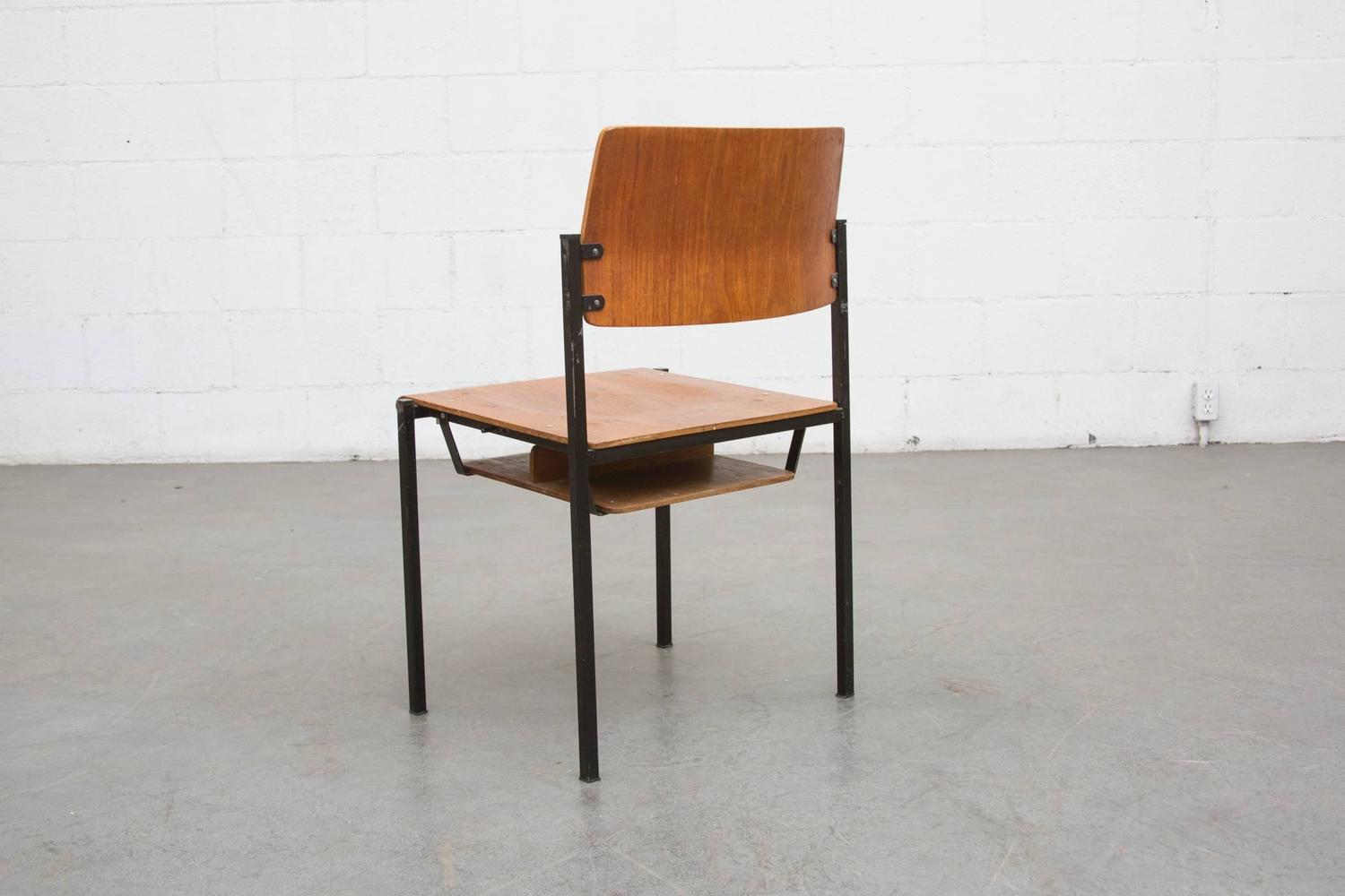 stackable church chairs one and a half chair canada thonet stacking with book cubby at 1stdibs