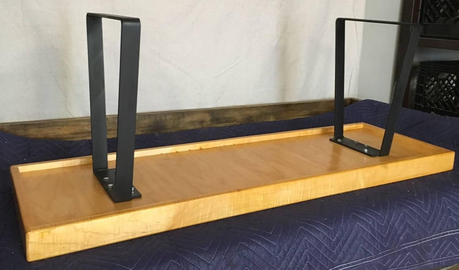 chair steel bracket covers for ikea jennylund bench from gymnasium gym flooring with legs