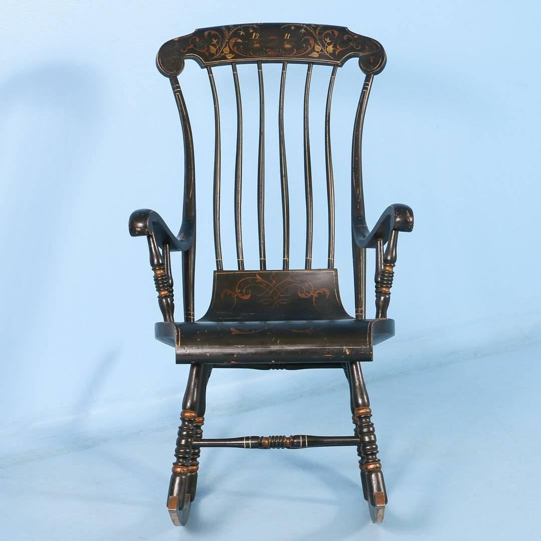 antique rocking chairs for sale baby chair cushions black swedish with original