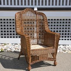 Heywood Wakefield Wicker Chairs Chaise Lounge Antique Armchair For Sale At 1stdibs