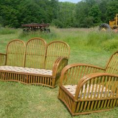 Heywood Wakefield Wicker Chairs Neck Posture Chair Antique Stick Set For Sale At 1stdibs