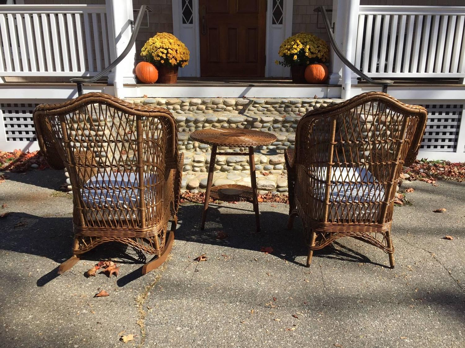 heywood wakefield wicker chairs cheap rental chair covers antique and rocker at 1stdibs