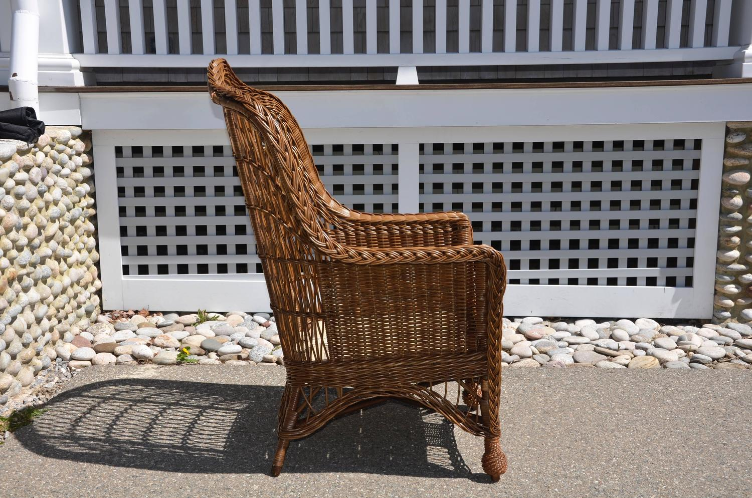 heywood wakefield wicker chairs custom office antique armchair for sale at 1stdibs