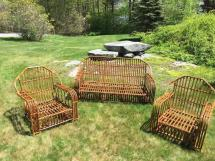 Antique Stick Wicker And Rattan Set 1stdibs