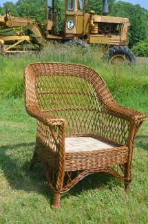 Antique Heywood-wakefield Bar Harbor Wicker Chair And