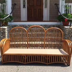 Heywood Wakefield Wicker Chairs Gray Chair Slipcover Antique Stick Set For Sale At 1stdibs