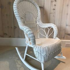 Vintage Wicker Rocking Chair Sure Fit Dining Room Covers Antique Rocker For Sale At 1stdibs American