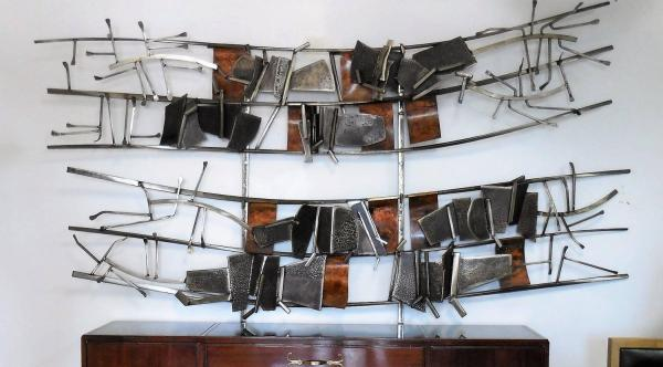 Monumental Abstract Metal Wall Sculpture Peter