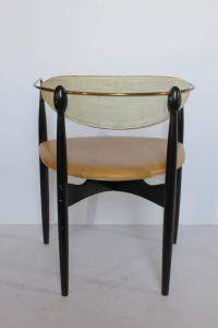 Mid-Century Leather and Wood Desk Chair by Dan Johnson at ...