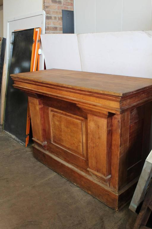 rolling island kitchen country antique candy store wood counter or front bar at 1stdibs