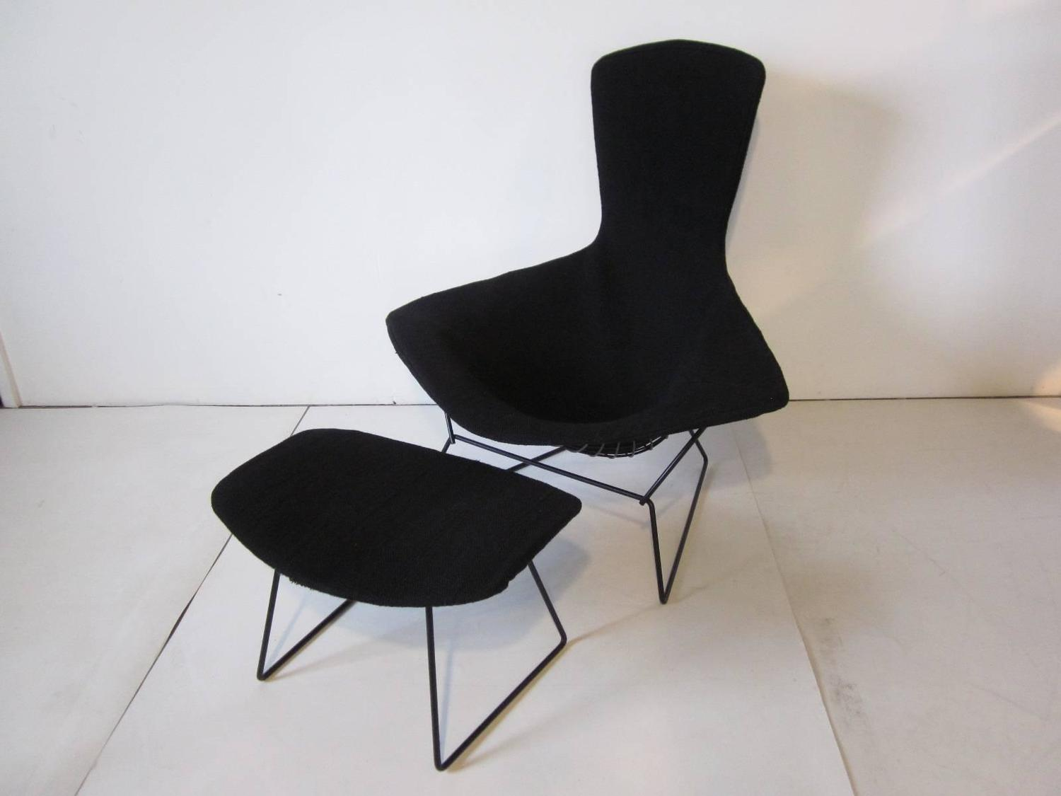 Bird Chair Harry Bertoia Bird Chair And Ottoman For Knoll At 1stdibs