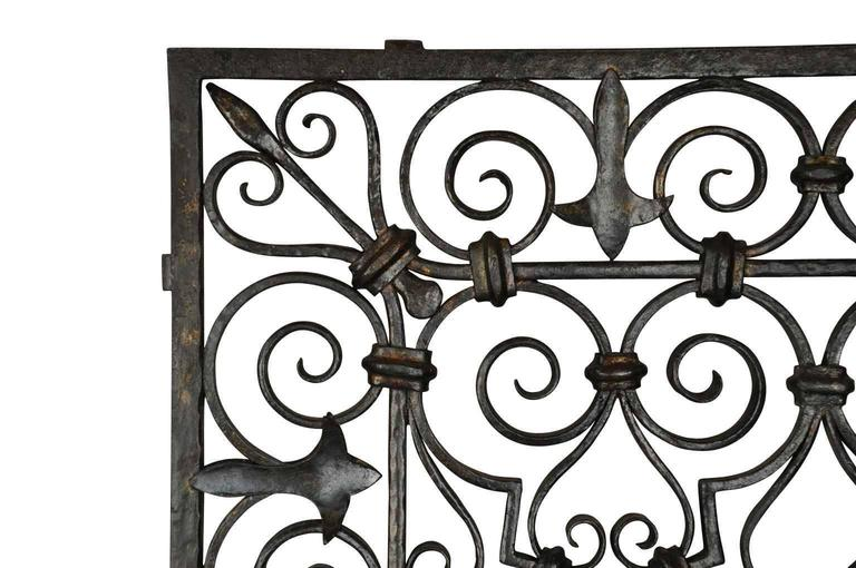19th Century Wrought Iron Grille Panel from Spain at 1stdibs