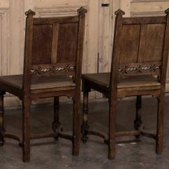 Medieval Dining Chairs Round Christmas Chair Covers Set Of Six 19th Century French Gothic Early