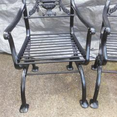 Antique Cast Iron Garden Table And Chairs Geologic Fishing Chair Regency Set Bench For