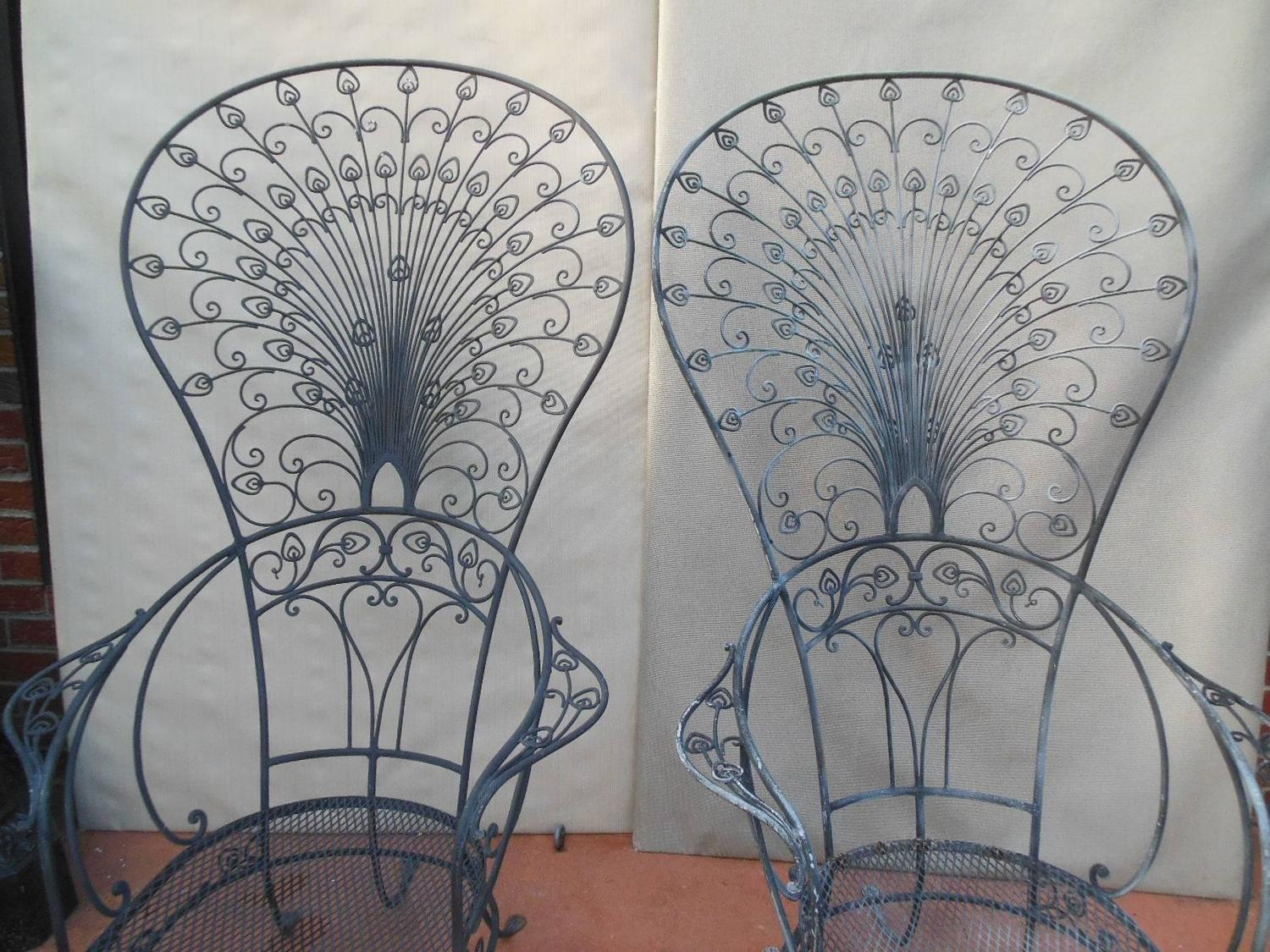 iron chair price desk accessories salterini peacock wrought rare chairs for sale at 1stdibs