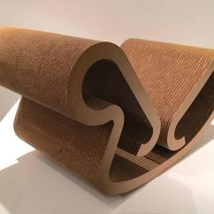 Frank Gehry Cardboard Chair Leather And Fabric