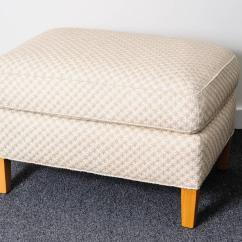 Cream Club Chair Custom Kitchen Chairs And Ottoman With Diamond Star Pattern