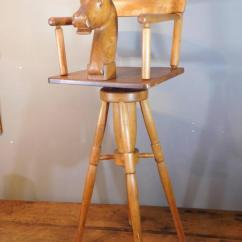 Childs Rattan Chair Gel Cushion For Office As Seen On Tv Child's Barber With Carved Horse Head And Rotating Seat, Circa 1890 Sale At 1stdibs