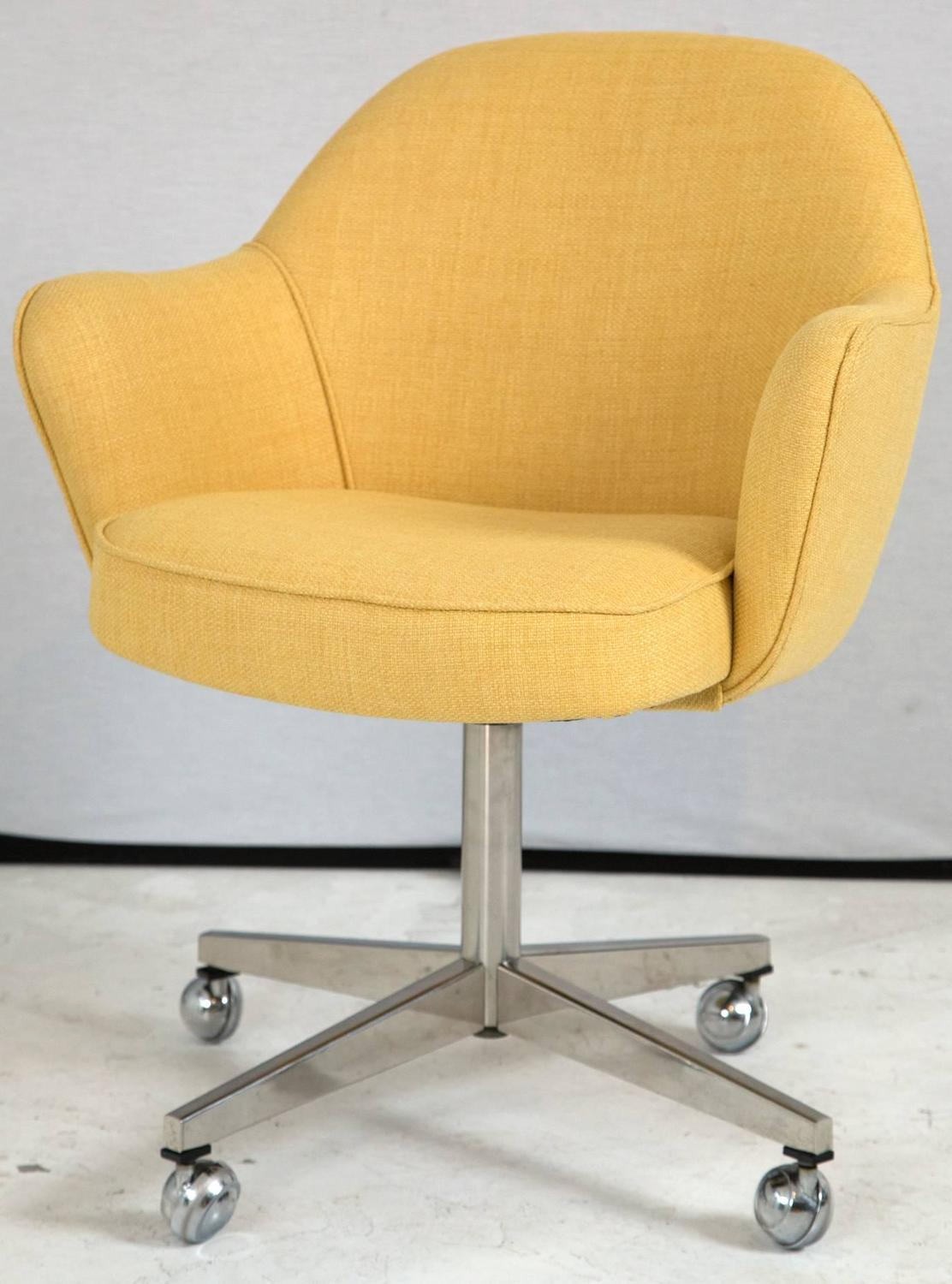 yellow office chair power lift chairs medicare knoll desk in microfiber for sale at 1stdibs